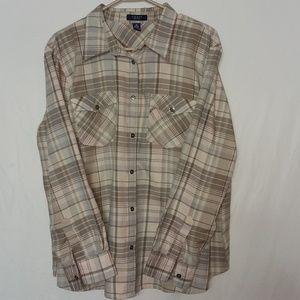 Chaps Women's Long Sleeve Plaid Shirt Size 2X